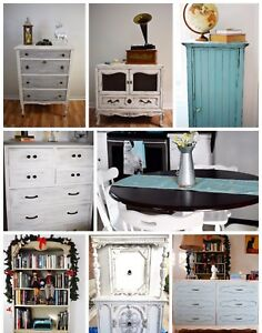 Hand painted antique and vintage furniture!