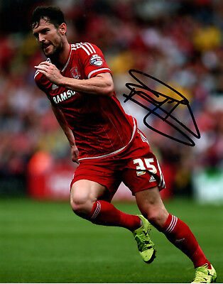 DAVID NUGENT - Signed 10x8 Photograph - FOOTBALL - MIDDLESBROUGH