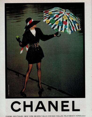 1988 CHANEL :   Magazine  PRINT AD