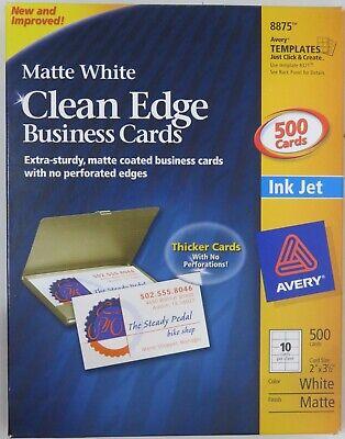 Avery 8875 500 Business Cards 50 Sheets Laser Inkjet 2 X 3 10 Per Sheet