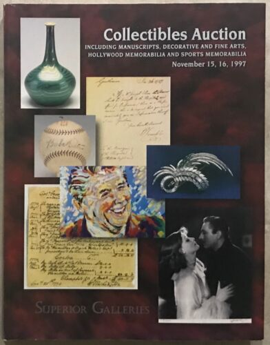 SUPERIOR CATALOG MANUSCRIPTS SPACE & COLLECTIBLES ART, SPORTS HOLLYWOOD & SPORTS