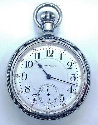 1902 Waltham 18s 19j Diamond Jeweled Pocket Watch Vanguard/1892 JUST SERVICED