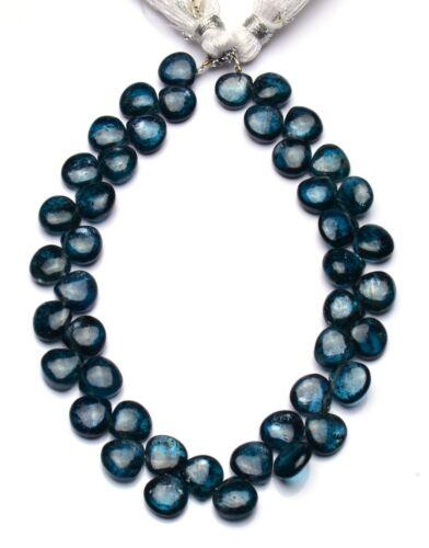 "Natural Gemstone Green Moss Kyanite 8MM Size Smooth Heart Shape Beads 8.5"""