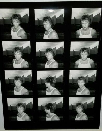 JON BON JOVI BLACK & WHITE CONTACT SHEET PROOF PHOTO BW ROCK STAR METAL MUSIC
