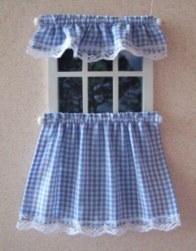 Dollhouse Miniature Cafe Curtains
