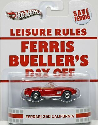 Hot Wheels Ferrari 250 California Ferris Bueller's Day Off #X8901 NRFP 2012 Red