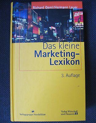 Geml, Lauer Das kleine Marketing-Lexikon 2004 Handel Werbung Online Vertrieb
