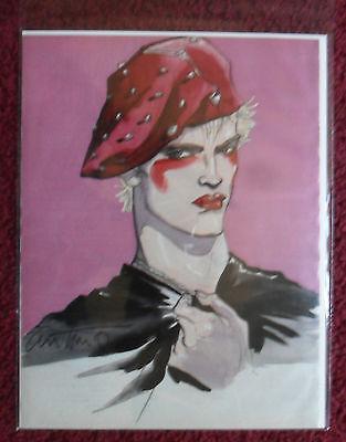 1986 Magazine Art Page Music ICON BILLY IDOL by Antonio Lopez
