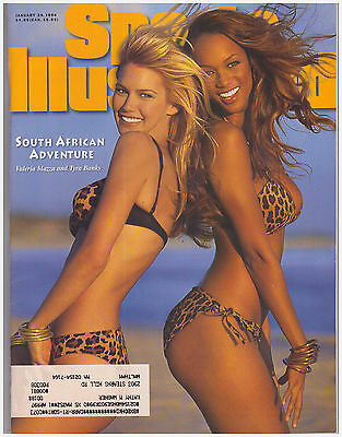 1996 Sports Illustrated Swimsuit Issue Valeria Mazza  Tyra Banks  Angie Everhart