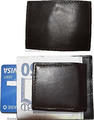Lot of 2 New Lambskin Leather money Clip, Magnetic money clip. leather case BNWT ()