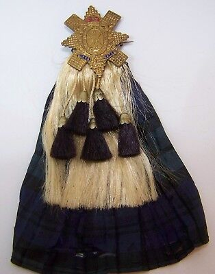 ca1900 Black Watch Royal Highlanders Tartan Silk Kilt Sporran 10K Sweetheart Pin Black Watch Silk Tartan
