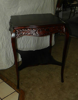 Mahogany Center Table - Mahogany Carved Center Table / Parlor Table  (T1)
