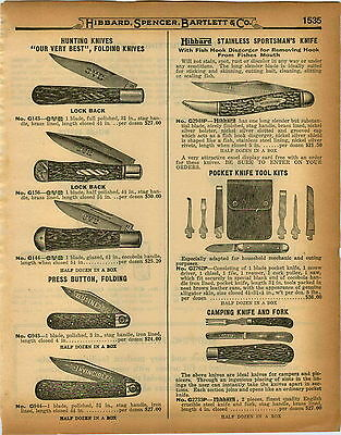 1926 PAPER AD OVB Our Very Best Folding Pocket Hunting Knife Press