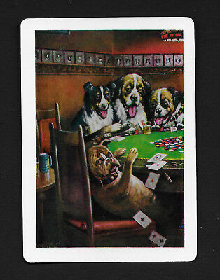 (Poker dogs dog playing card single swap ace of spades - 1 card)