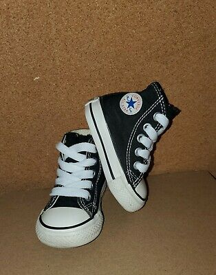 Baby CONVERSE ALL STAR infant size 2, Black High Top Shoes