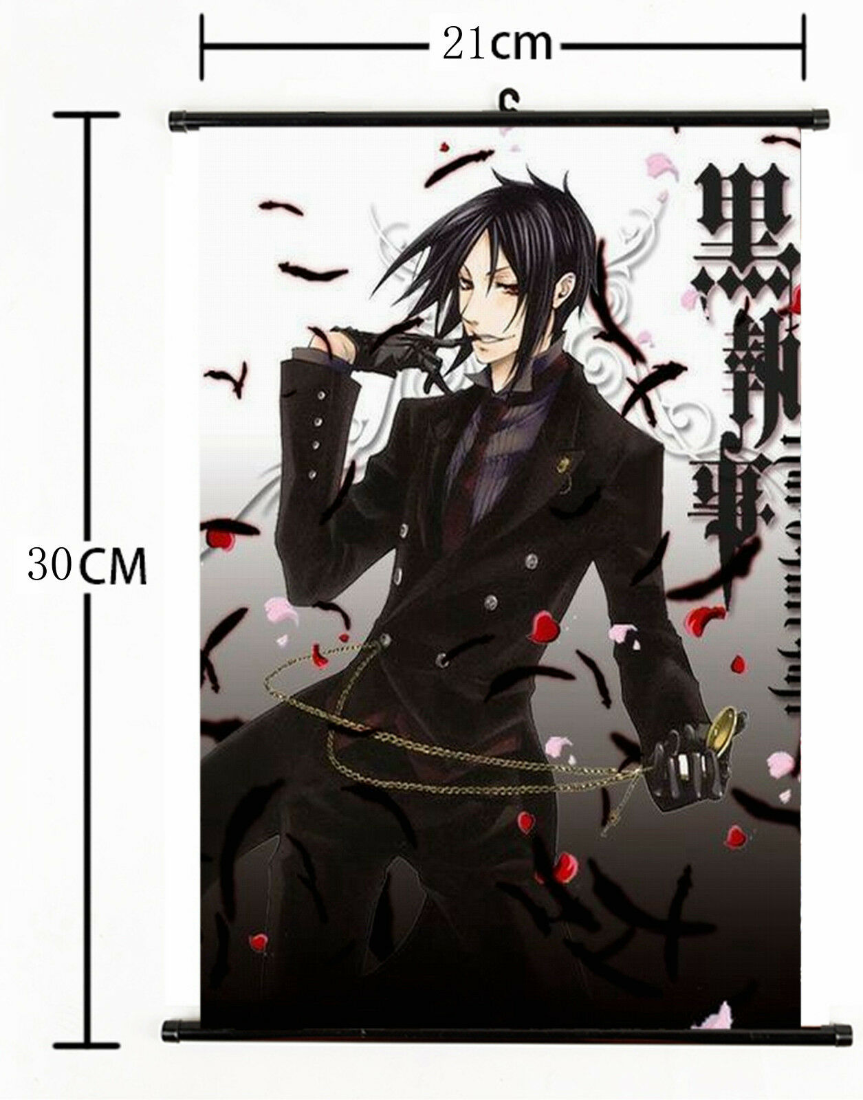 "Hot Japan Anime Black Butler undertaker Home Decor Poster Wall Scroll 8/""x12/"" P99"