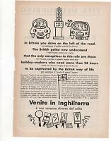 Pubblicità Epoca 1954 Turismo Inghilterra Old Advert Werbung Publicitè Reklame -  - ebay.it