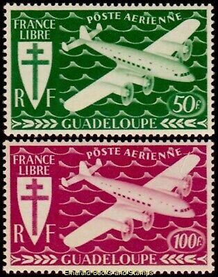 EBS Guadeloupe 1945 - Air Mail - London Series - GP PA 4-5 MNH**