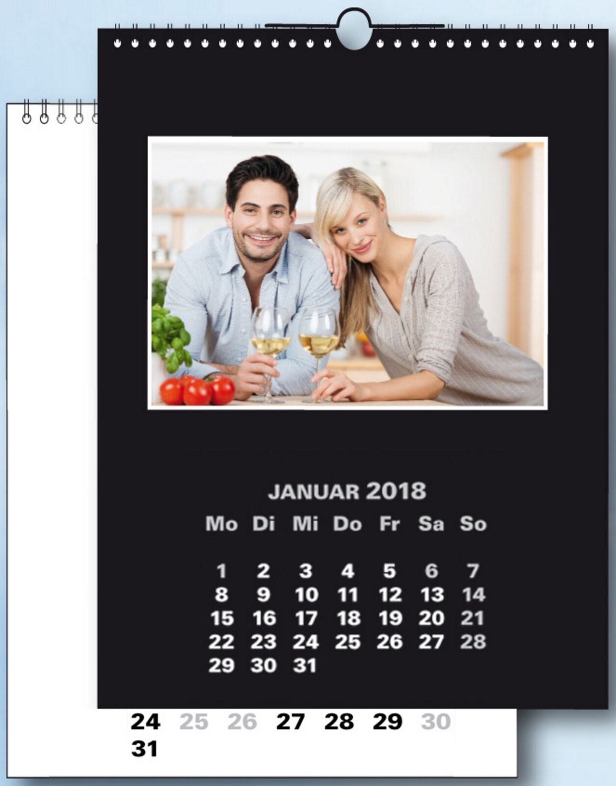 na-und Fotokalender 19x25 Bastelkalender DUO color 2018 für 10x15