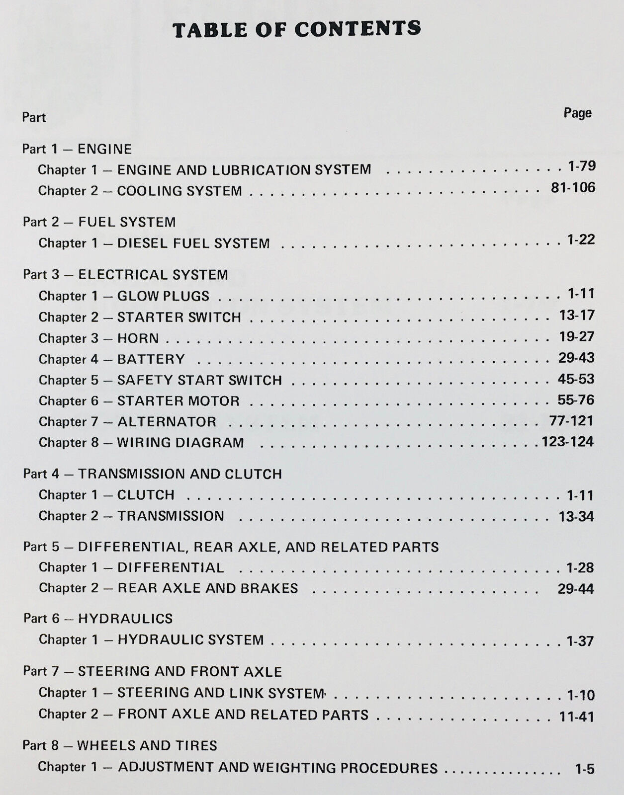 Ford 1100 Tractor Service Manual Parts Catalog Suppelement