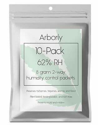 62% Humidity Control Packs - 20 Pack, 8 grams - All-Natural 2-Way Packets