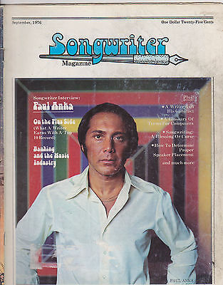 SEPT 1976 SONGWRITER vintage music magazine -- PAUL ANKA ()