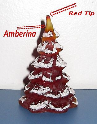 "Fenton  STORE EXCLUSIVE Christmas Tree Ruby 3""  Made in 2007"