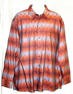 Mens XXL Shirt Striped Cotton Button Front Long Sleeve Jack Lipson Signature   for sale  Canada