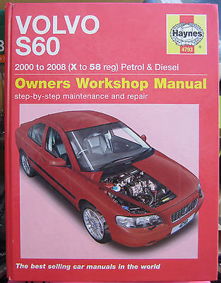 VOLVO S60 2.0*2.3*2.4*2.5 PETROL*DIESEL~HAYNES WORKSHOP MANUAL 2000*X~2008*58