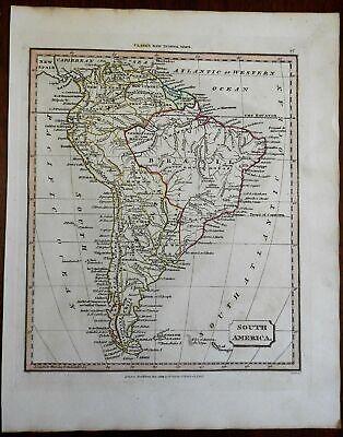South America Colombia Peru Brazil La Plata Chile Falklands 1824 Tyrer map