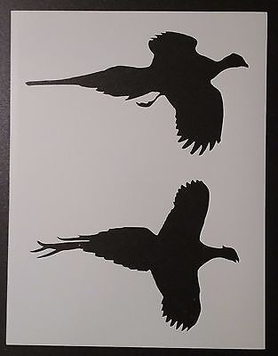 "Pheasant Bird Birds Silhouettes Flying 8.5"" x 11"" Custom Stencil FREE SHIPPING"
