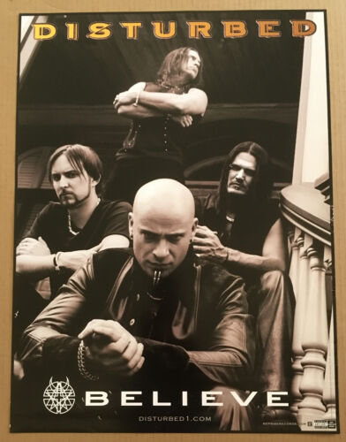 DISTURBED 2002 PROMO Retail POSTER for Believe CD USA MINT 18x24 Never Display