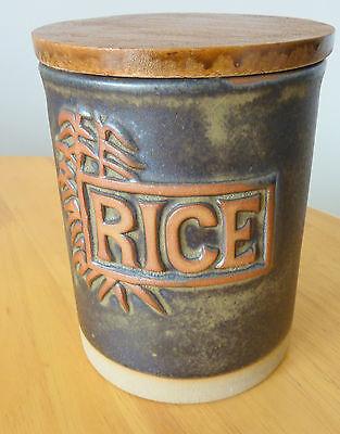 Tremar - Vintage 1970's Rice Storage Jar, unusual.  Excellent condition