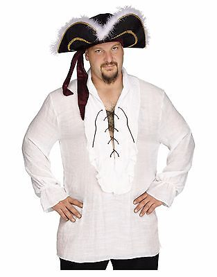 Swashbuckler Pirate Vampire Shirt Adult Costume Accessory, White, Plus Size - Vampire Pirate Costume