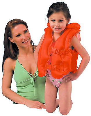 Intex Inflatable Swim Vest Float Children's Life Jacket Floatation Aid 3-6yrs