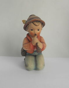 Vintage Hummel Boy on Knees Blowing Horn~~3 1/2