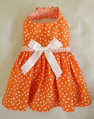 M New Summer Fun Orange Dog dress clothes pet apparel Medium PC Dog®
