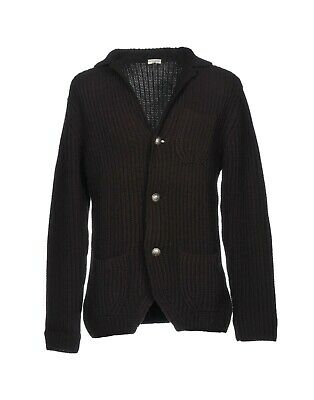 Paolo Pecora 100% Wool Heavy Textured Knit Cardigan Sweater M / L Italy $600