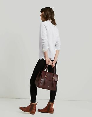 Joules Womens Durham Leather Tote One In Oxblood In One Size