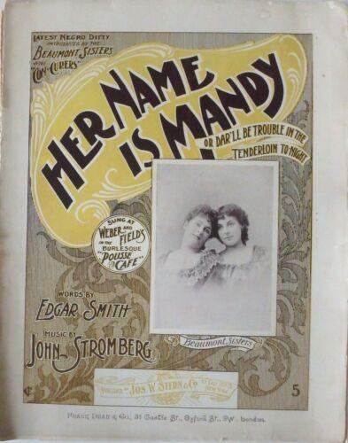 Her Name is Mandy Sheet Music 1898 Black Americana