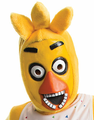 Five Nights At Freddy's Chica Child Latex & Faux Fur 3/4 Mask Halloween Rubies - Five Nights At Freddy's 4 Halloween