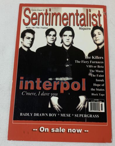 2004 Sentimentalist promo postcard ~ INTERPOL
