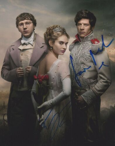 Lily James/James Norton/Paul Dano Signed War And Peace 10x8 Photo AFTAL
