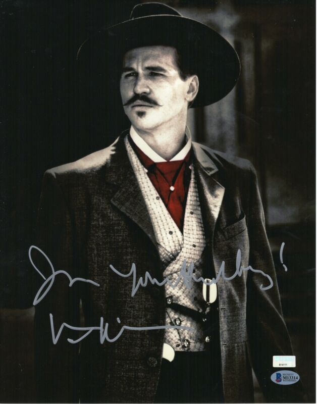 Val Kilmer Autograph 11x14 Photo Tombstone Doc Holliday Signed BAS COA A3
