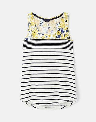 Joules 208585 Printed Jersey Vest - FALMOUTH STRIPE BORDER