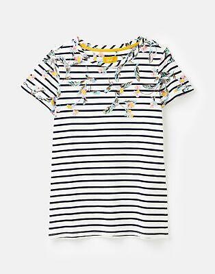 Joules  208574 Lightweight Jersey T Shirt - FLORAL BORDER STRIPE