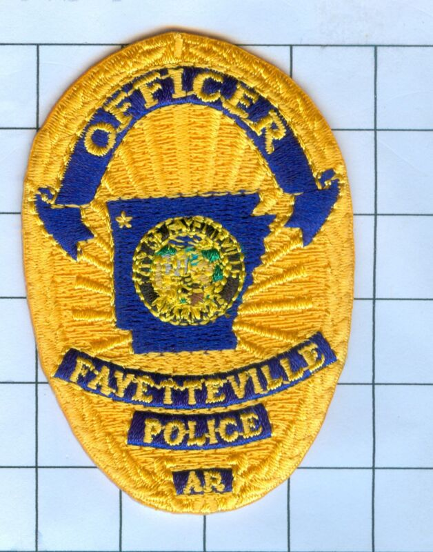 Police Patch Embroidered Mini-Patch  - Arkansas - Fayetteville Officer