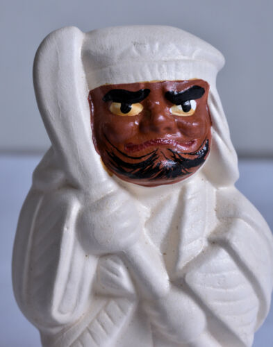 Japanese Old Clay Doll : design Benkei