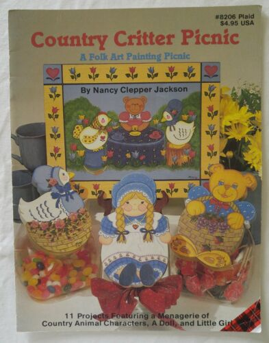 Decorative Painting Pattern Book COUNTRY CRITTER PICNIC by Nancy Clepper Jackson
