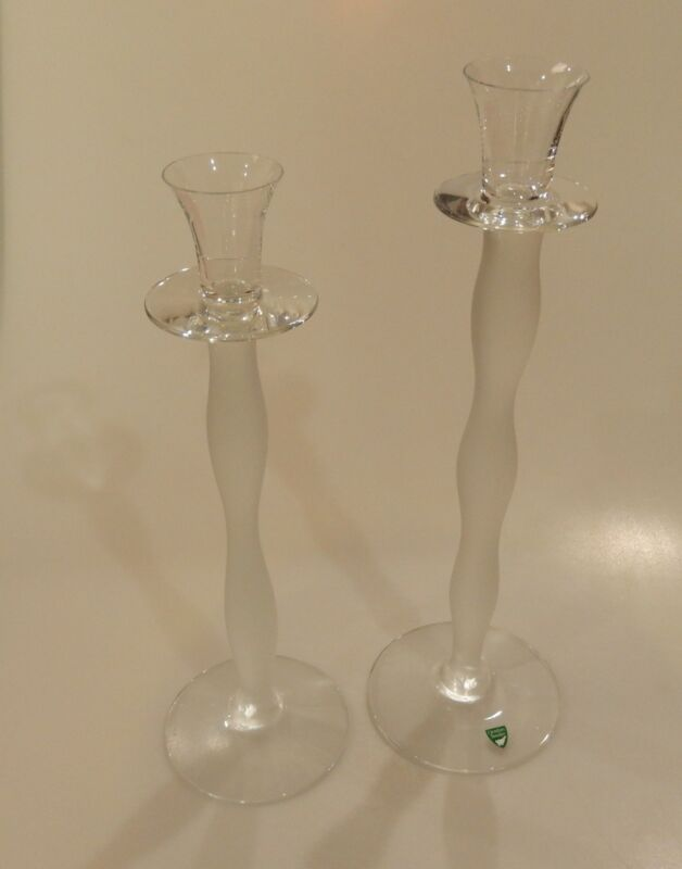 Orrefors CELESTE Series by Anne Nilsson Set of 2 Candle Holders